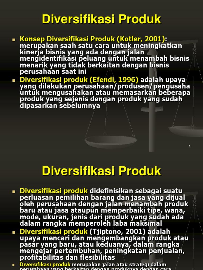 strategi diversifikasi pengembangan produk