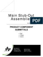 Commercial Main Stub-Out Assembly Product Component Submittal 2010