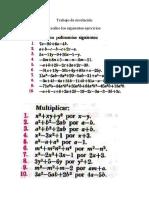 ejercicios propuestos álgebra