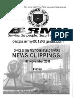 07 Nov 14 Newsclippings