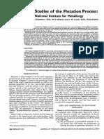 Fundamental Studies of the Flotation Process: