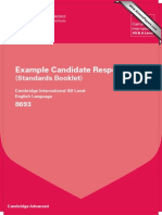 8693 English Language Example Candidate Responses Booklet 2011