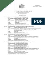 Public Hearing Calendar - November 7, 2014