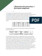 Evaluación Financiera de Proyectos Casos Practicos