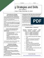 u3w5 reading skills and strategies