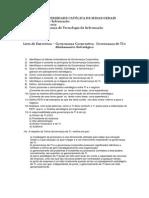 Lista Exercicios Governança