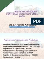 Regimenes de Informacion para el agro