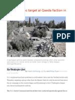 U.S. Airstrikes Target Al-Qaeda Faction in Syria