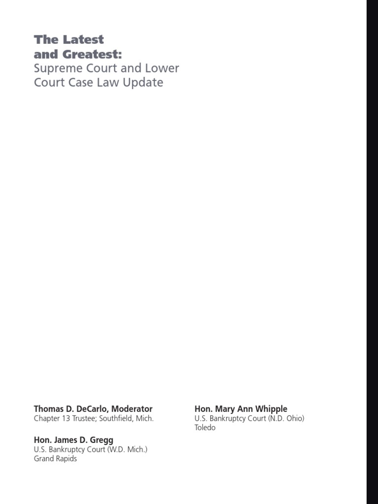2014 latest and greatest supreme court | chapter 7 | bankruptcy
