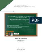Anais do I Colóquio Docência e Diversidade Na Educação Básica_eixo 1