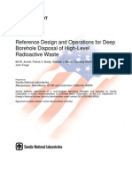 Reference Design and Operations for Deep Borehole Disposal of High-Level Radioactive Waste