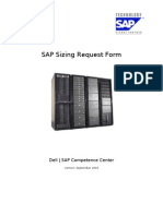 SAP Sizing Request Form