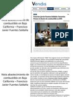Nota Abastecimiento de Abastecimiento de combustible en Baja California – Francisco Javier Fuentes Saldaña - PEMEXCombustible en Baja California –