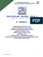 Edital FACAPE 2015.1