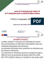 Présentation d Ammar Cluster 34 Bilan Carbone