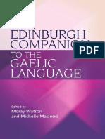 The Edinburgh Companion to the Gaelic Language - M. Watson, M. Macleod (Edinburgh, 2010) BBS