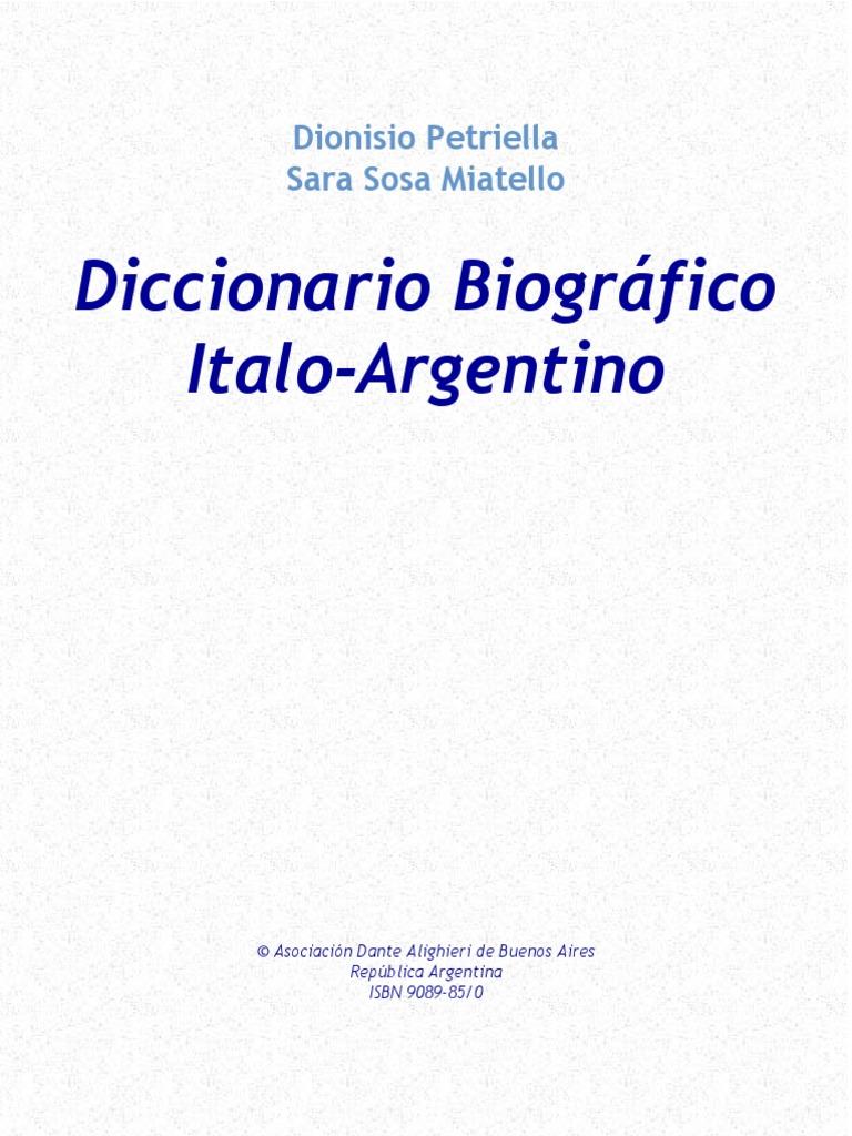 Diccionario Biográfico Italo-Argentino