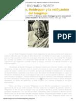 Rorty Richard - Wittgenstein, Heidegger y La Reificación Del Lenguaje