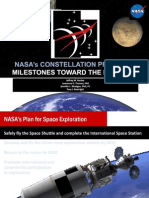 NASA Constellation Program - Milestones Toward the Frontier