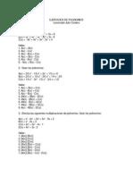Guía Ejercicios de Polinomios