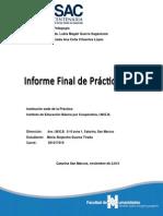 Informe Final Practica Docente Supervisada