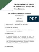 Estudio de Factibilidad Para La Crianza de Truchas en Pichcacocha