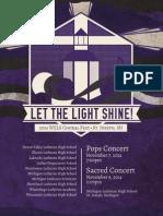 Let The Light Shine - WELS Choral Fest Program