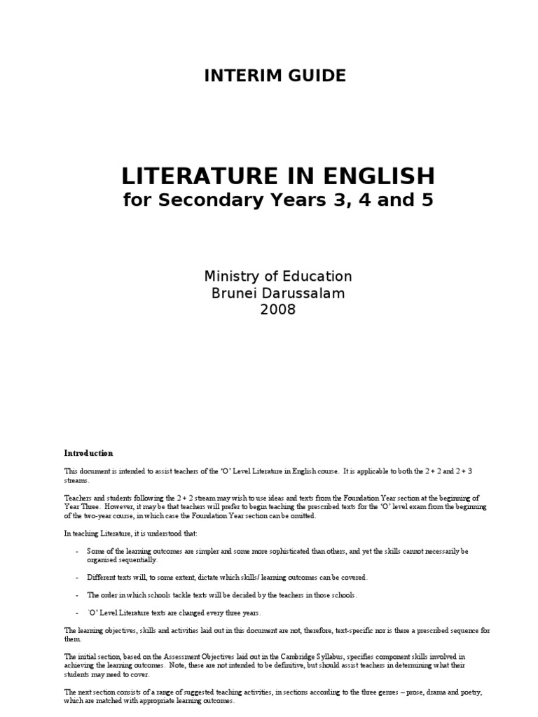 Interim guide for literature in english sow poetry narration buycottarizona