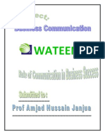 Business Communication Project Wateen