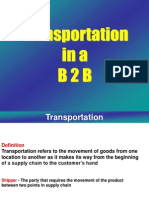Transoprtation in B2B