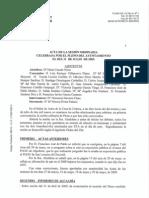 Borrador acta Pleno Ayuntamiento Alpedrete  31 de Julio de 2009