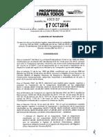 RESOLUCION 0003157-2014