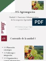 Unidad 1 Funciones Administrativas Para Los Agronegocios