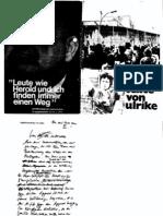 Letzte Texte von Ulrike Meinhof