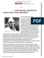 Was Nehru Unanimously Elected as India's First Prime Minister