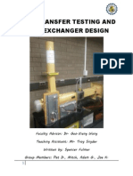 Analysis and Design of Heat exchanger