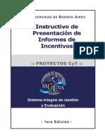 Instructivo de Presentación de Informes de Incentivos
