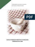 Guía de Trabajos Prácticos Tecnología Farmacéutica 2004