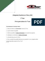 OBF2002 F3 3A Prova Teorica