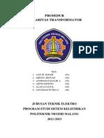 Prosedur Polaritas Transformator.docx