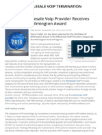 Voicebuy Wholesale Voip Provider Receives 2014 Best of Wilmington Award