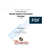 Mental Health of GNM