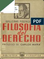 Hegel - Filosofia Del Derecho