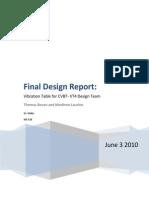 Final Design Report- Vibration Table for CVBT- VT4 Design Team