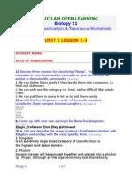 Unit 1 Lesson 1,2,3 Worksheet