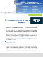 ICD 10 Documentation for Major Urological Disorders
