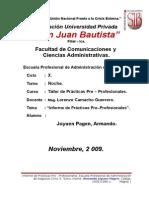 Informe de Prácticas Pre-Profesionales.