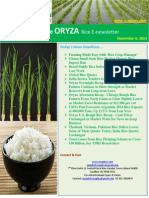 6th November,2014 Daily Exclusive ORYZA E-Newsletter by Riceplus Magazine