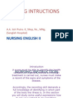 Nursing Instruction 2003