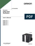 OMRON NJ CPU Unit Sofware User Manual
